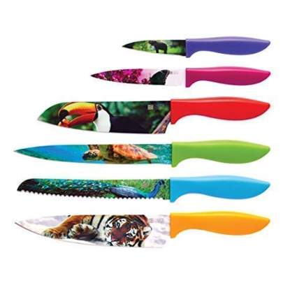 wildlife printed knife set