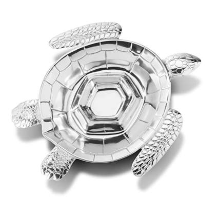 wilton armetale turtle chip and dip tray