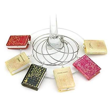Book Beads jane austen wine charms