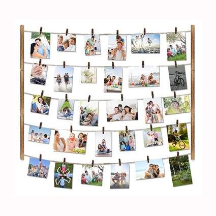 clothes line style photo collage