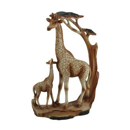 Carved wood giraffe figure