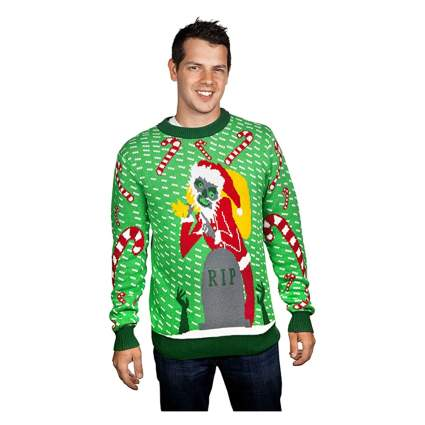 zombie ugly christmas sweater