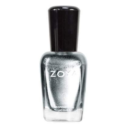 Silver Zoya nail polish