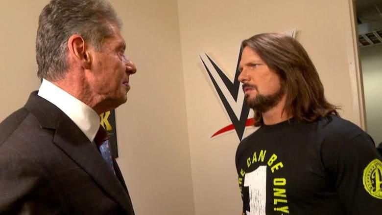AJ tyles Vince McMahon