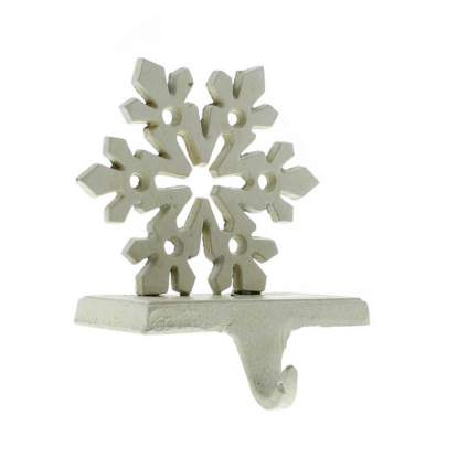White Snowflake Stocking Holder