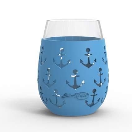 silicone sleeve wine glass