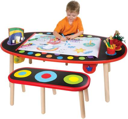 Art Table with Paper Roll Kids Art Supplies by ALEX Toys