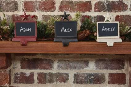 Park Designs Chalkboard Stocking Hanger - Iron