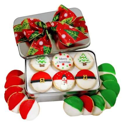 Custom Cookies Christmas Cookie Gift Basket