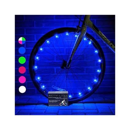 Blue light up bike lights