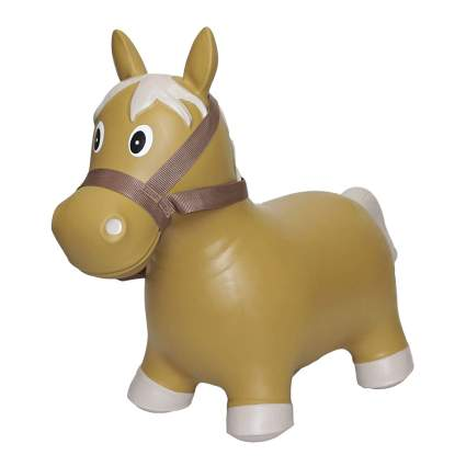 Inflatable bouncy horse