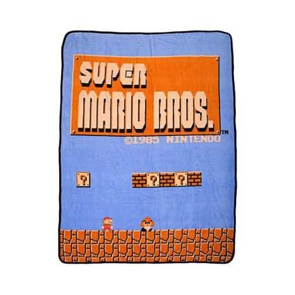 Bioworld super mario brothers throw blanket retro toys
