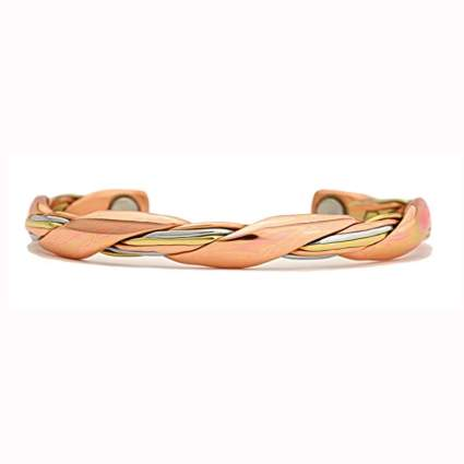 twisted copper magnetic therapy bracelet