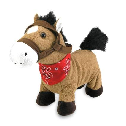 Plush horse with bandana