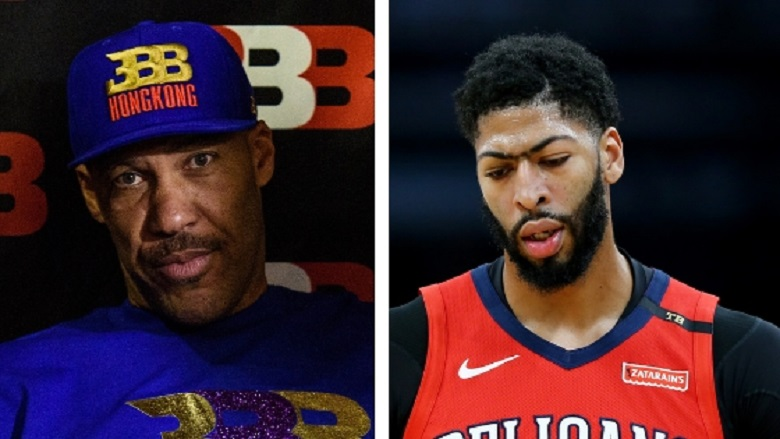 LaVar Ball, Lakers anthony davis