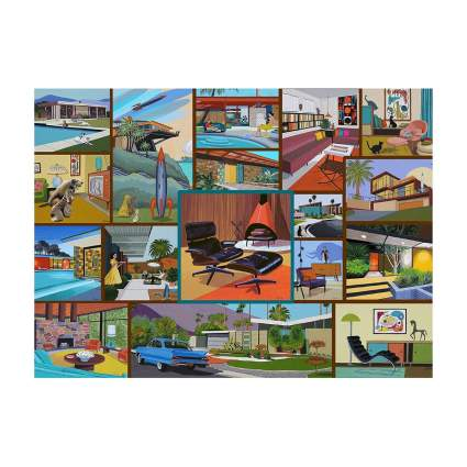 Hennessey Puzzles midcentury modern puzzle retro toys