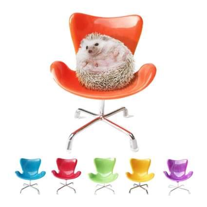 Hedgehog in mini plastic chair