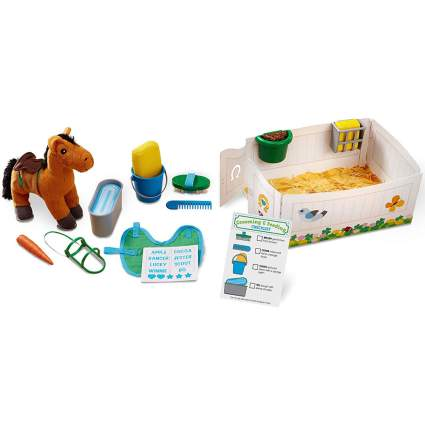 horse grooming toy set