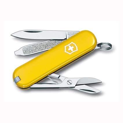 yellow mini swiss army knife