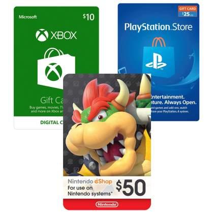 PLAYSTATION xbox nintendo digital gift card