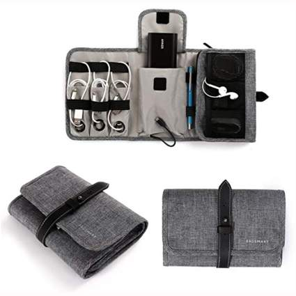 portable electronics travel bag
