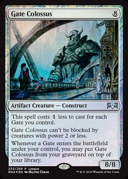 Ravnica Allegiance Gate Colossus