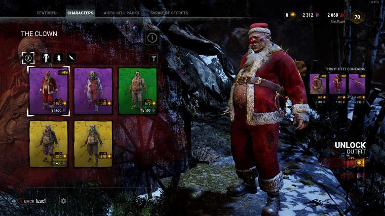 Santa Clown Dead by Daylight