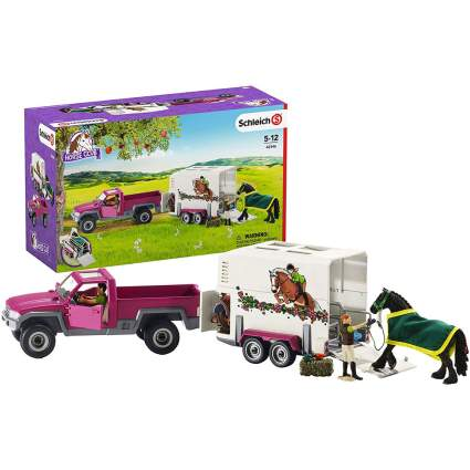 Horse trailer toy set