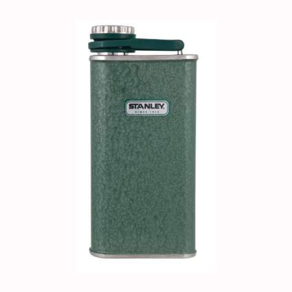 green steel flask