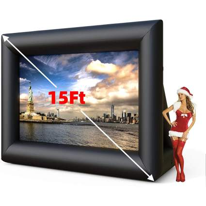 15-Foot inflatable projection screen