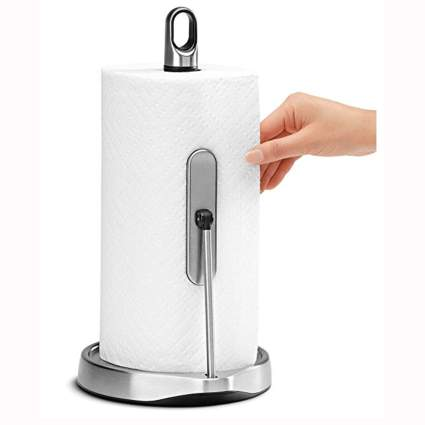 stainless steel tension arm paper towel holder