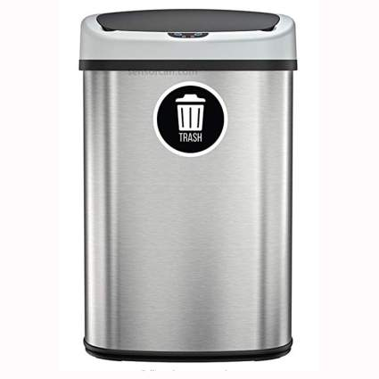 stainless steel touchless kitchen trash can