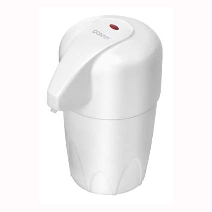 white heated lotion dispenser