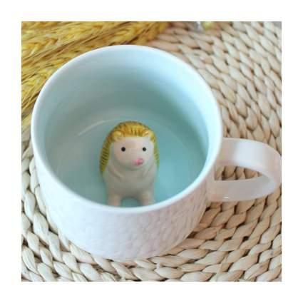 3d hedgehog coffee mug