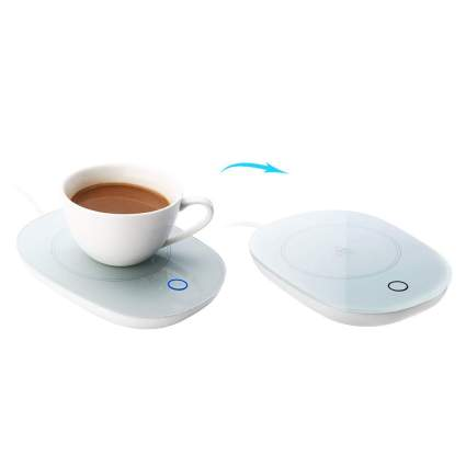 Electric mug warmer with cup