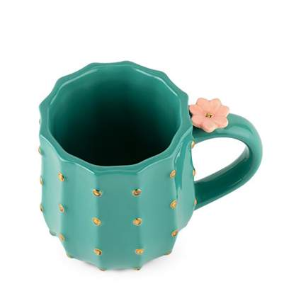 Green cactus mug