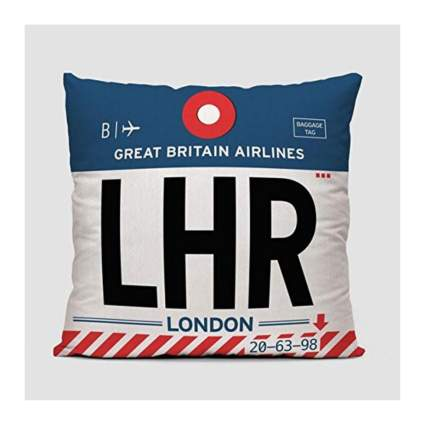 Airportag throw pillow aviation gifts