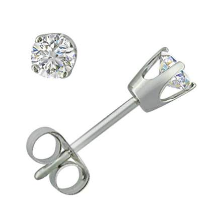 Amanda Rose Collection 1/3ct TW Diamond Solitaire Stud Earrings in 14K Gold