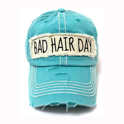 aqua bad hair day ballcap