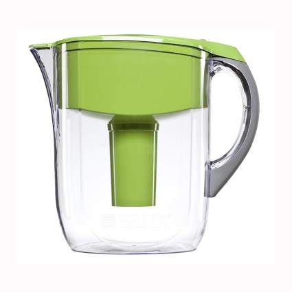 green and lucite water purifying pitcher