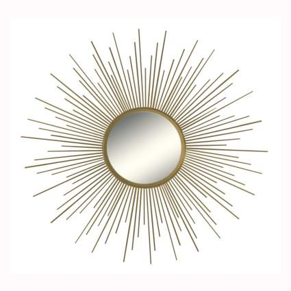 gold sunburst decorative wall mirror