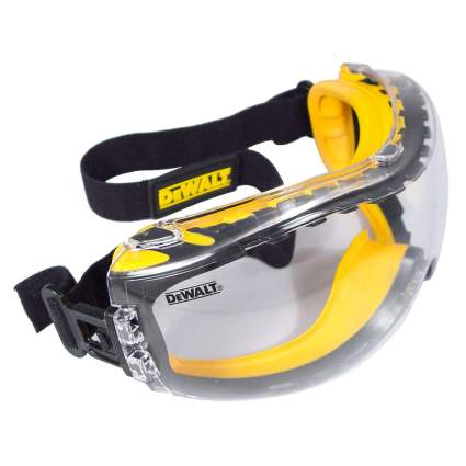 Yellow dewalt goggles