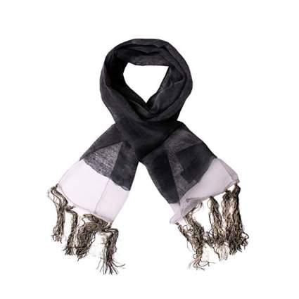 diesel scarf black gold white