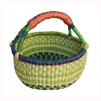 small mixed color fair trade market basket