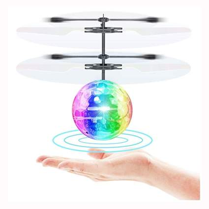 Flying LED lighted ball