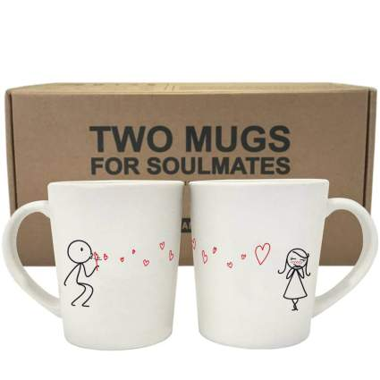 From My Heart to Yours His and Hers Matching Couple Coffee Mugs Set