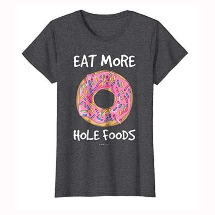 grey women's donut tee shirt