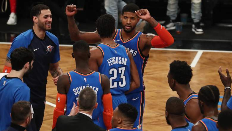 Paul George– Oklahoma City Thunder vs Brooklyn Nets [Dec. 5, 2018] game-winning three 47 points