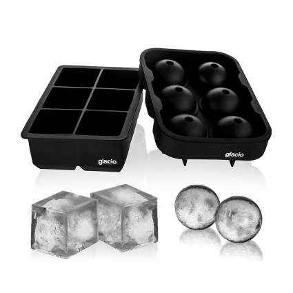 glacio Large Silicone Ice Cube & Ball Trays