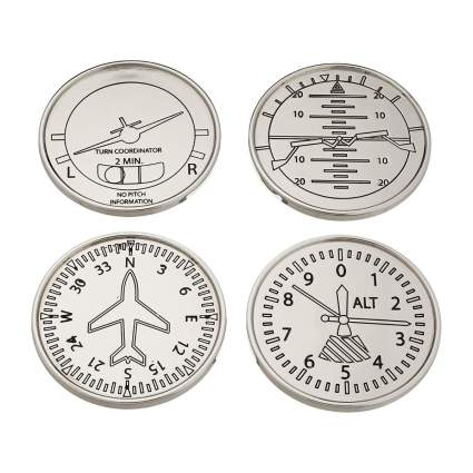 Godinger coasters aviation gifts